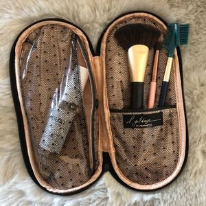 MAC leopard print cosmetic / brush bag.